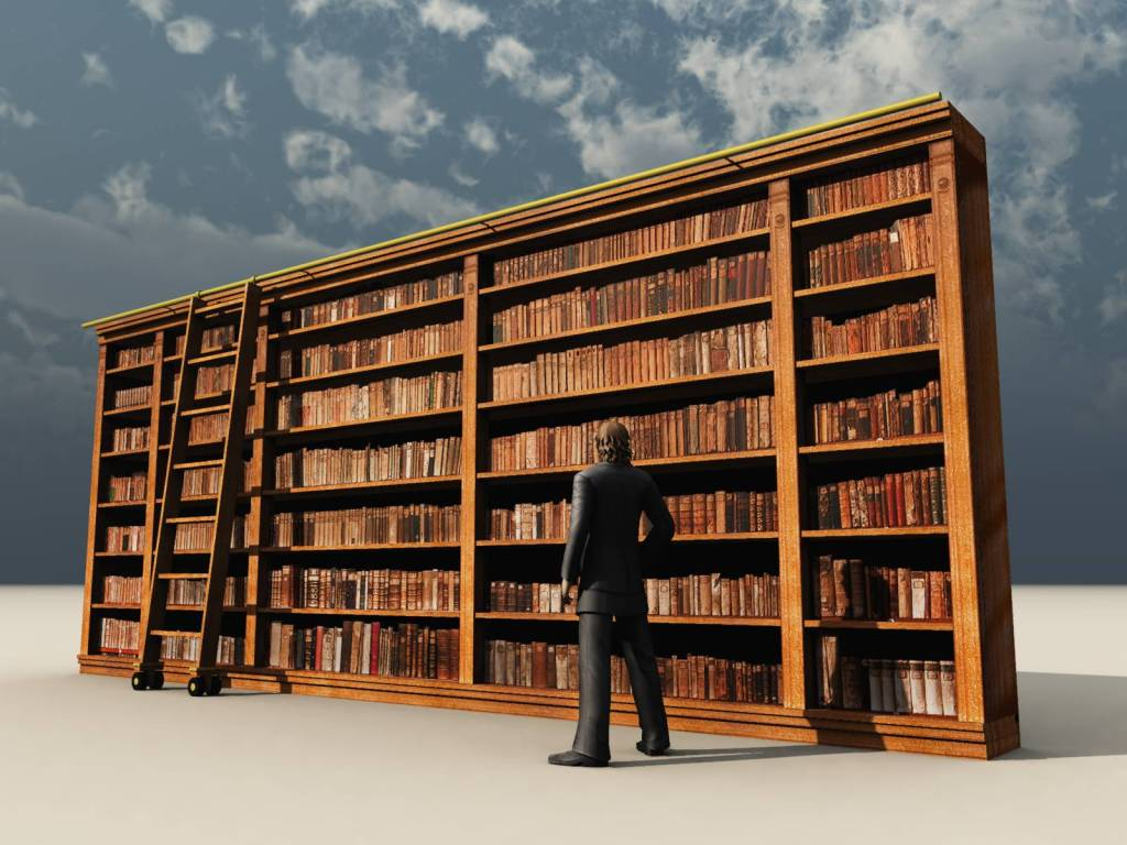 vintage library shelves vue 3d models