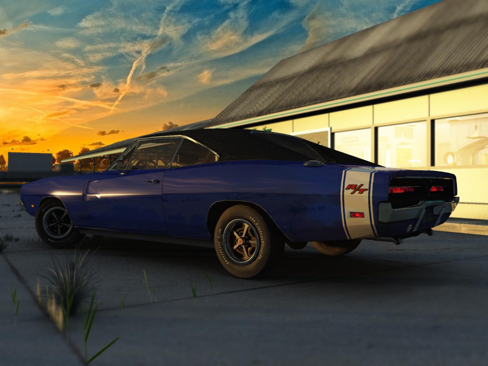 1969 Dodge Charger Rt Vue 3d Models