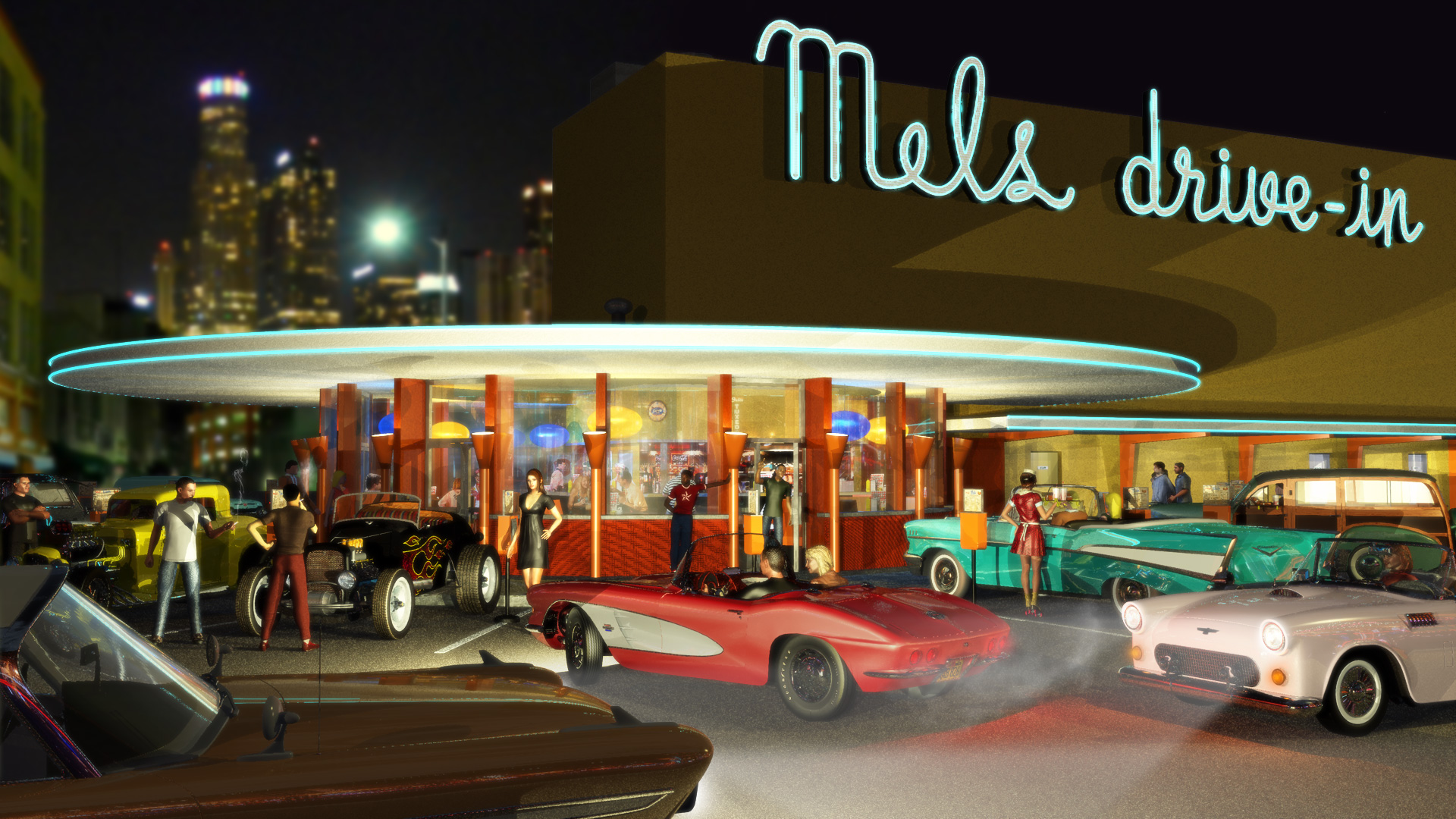 mels drivein california diner - HD 1920×1080
